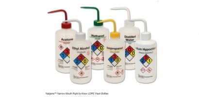 Nalgene™ Narrow-Mouth Right-to-Know LDPE Wash Bottles
